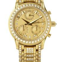 Piaget Polo Chronograph Yellow Gold Diamonds Ladies