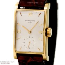 Patek Philippe Vintage Rectangular Ref-1588 18k Yellow Gold...