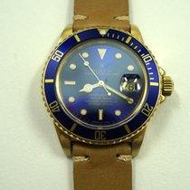 Rolex Submariner 18k w/blue dial 16808 dates 1980