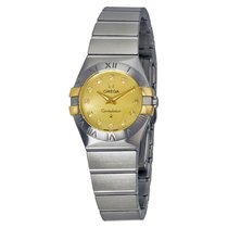 Omega Constellation Champagne Mother of Pearl Diamond Ladies...