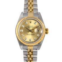 Rolex Datejust Ladies Bimetal, Diamond Dial,Ref: 79173 with...