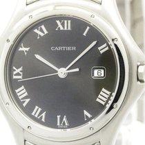Cartier Polished Cartier Panthere Cougar Steel Quartz Mens...