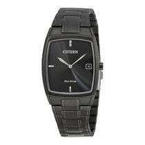 Citizen Eco-Drive Black Stainless Steel Mens Dress Watch...