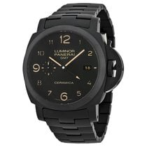 Panerai Luminor 1950 Tuttonero GMT Black Dial Black Ceramic...