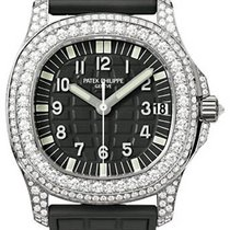 Patek Philippe 5069G-001 Aquanaut Ladies 35.2mm Embossed Black...