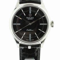 Rolex 50509 Cellini Time White Gold Black Dial
