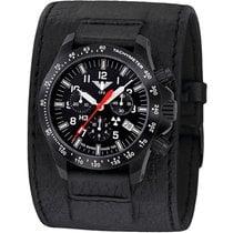 KHS Uhren Herrenuhr Black Platoon Chronograph KHS.BPCLDR.LK