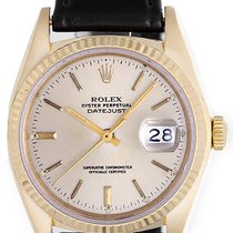 Rolex Datejust Men's 18k Yellow Gold Strap Watch