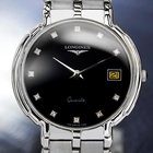 Longines Mens Swiss Flagship 18k White Gold Plated Diamond...