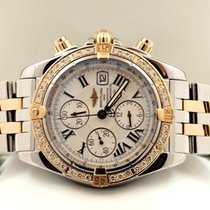 Breitling Chronomat Evolution Pilot Gold Steel Diamonds 44mm...