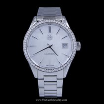 TAG Heuer Carrera with White Pearl Face & Diamond Bezel