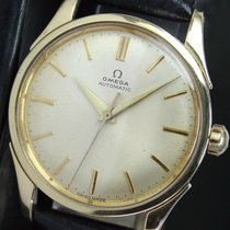 Omega Seamaster Half Rotor Bumper Automatic Steel Gold Mens Watch