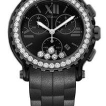 Chopard 288499-3009 Happy Sport Chrono in Black PVD-Diamonds -...