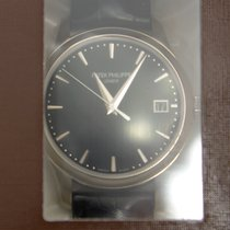 Patek Philippe New  Calatrava 18k White Gold Silver Automatic...