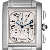 Cartier Tank Francaise Chronograph Men's Steel Watch W51001Q3