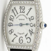 Franck Muller Curvex 1752 Qz D Steel & 2 Row Diamonds Rare...