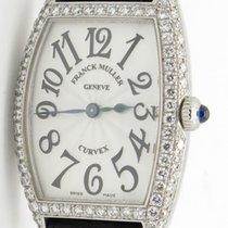 Franck Muller Curvex 1752 Qz D Steel & 2 Row Diamonds Rare...
