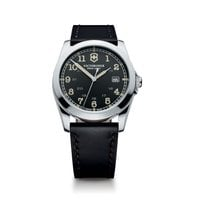 Victorinox Swiss Army Infantry dark grey dial, black leather...