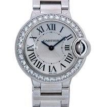 Cartier Ballon Bleu 18K Solid White Gold Diamonds