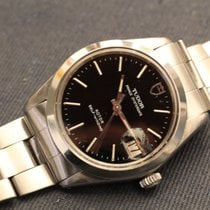 Tudor prince oysterdate 34 mm black dial with rolex bracelet 7835