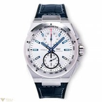 IWC Ingenieur Chronograph Racer Silver Dial Leather&Rubber...