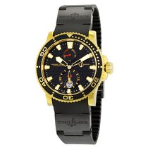 Ulysse Nardin Marine Diver Automatic Black Dial Black Rubber...