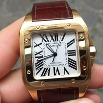 Cartier SANTOS 100 XL large oro gold full set