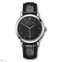 A. Lange & Söhne Saxonia 18K White Gold Black Leather...