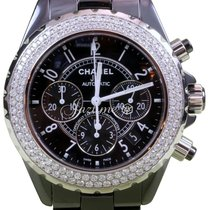 Chanel J12 H1009 Black Ceramic Diamond Chronograph 41mm...