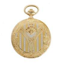 Omega Vintage Omega Engraved 18k Yellow Gold Men's Pocket...