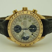 Omega 18K Rose Gold Speedmaster Automatic Chronograph Day-Date