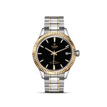 Tudor STYLE Steel Gold Index Date Automatic Black 12313