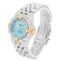 Breitling Starliner Steel Yellow Gold Blue Mop Diamond Watch...
