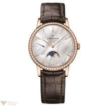 Zenith Elite Ultra Thin Lady Moonphase 36mm MOP Dial Rose Gold...