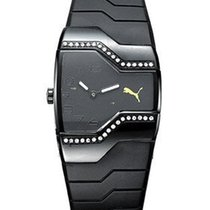 Puma Ladies Enticement Watch - Black Steel - Crystal Bezel -...