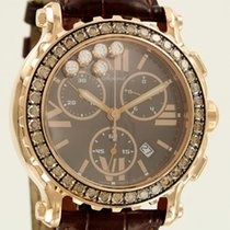 Chopard Happy Sport Chronograph Rose Gold/ Brown Diamonds