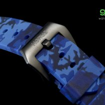 Panerai Horus Blue Camouflage Rubber Straps With Pvd Buckle,...