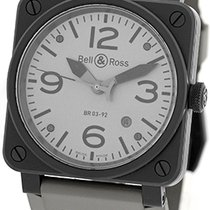 "Bell & Ross ""BR03-92"" Commando Edition Strapwatch."