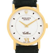Rolex Cellini Classic Mens 18k Yellow Gold Mechanical Watch 5115