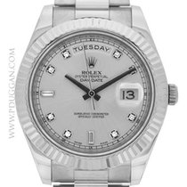 Rolex 18k white gold Day-Date II