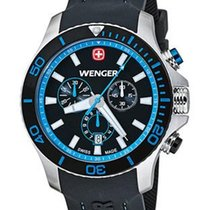 Wenger Sea Force Mens Chrono - Black/Blue Dial and Strap -...