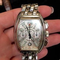 Franck Muller Conquistador Stainless Steel Men's Watch In Box