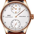IWC Portuguese Regulateur Regulator 18kt Rose Gold Skel...