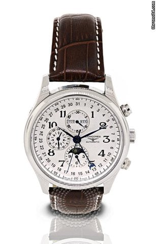 Longines Master Collection Moon Phase Stainless Steel Mens Watch L2.673.4.78.3