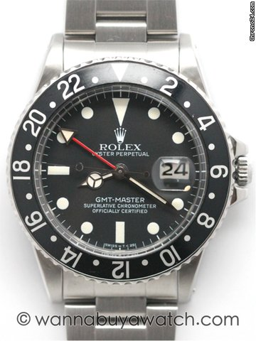 Rolex GMT-Master 16750 w /papers / stk# 40582