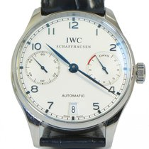 IWC Portuguese 7 Day Power Reserve Blue Dial Steel Watch...