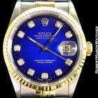 Rolex Datejust 16233 18k/steel Blue Vignette Dial