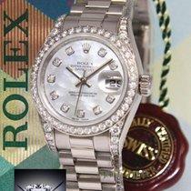 Rolex Datejust President 18K White Gold MOP Diamond Watch...