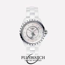 Chanel J12-365  H4345  White Ceramic and Diamonds T