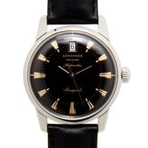 Longines Heritage Stainless Steel Black Automatic L1.611.4.52.2